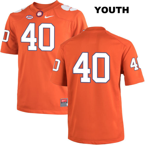 Hall Morton Stitched Clemson Tigers Nike no. 40 Youth Orange Authentic College Football Jersey - No Name - Hall Morton Jersey