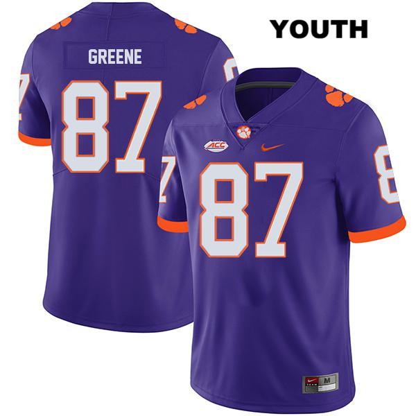 Stitched Hamp Greene Clemson Tigers Legend no. 87 Youth Purple Nike Authentic College Football Jersey - Hamp Greene Jersey