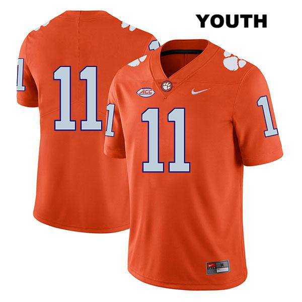 Stitched Isaiah Simmons Clemson Tigers Legend no. 11 Youth Orange Nike Authentic College Football Jersey - No Name - Isaiah Simmons Jersey