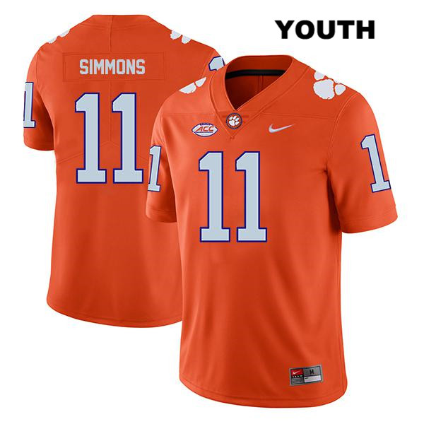 Isaiah Simmons Legend Nike Clemson Tigers no. 11 Youth Orange Stitched Authentic College Football Jersey - Isaiah Simmons Jersey