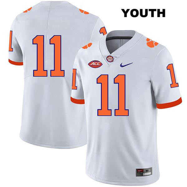 Isaiah Simmons Clemson Tigers Nike no. 11 Youth Stitched White Legend Authentic College Football Jersey - No Name - Isaiah Simmons Jersey