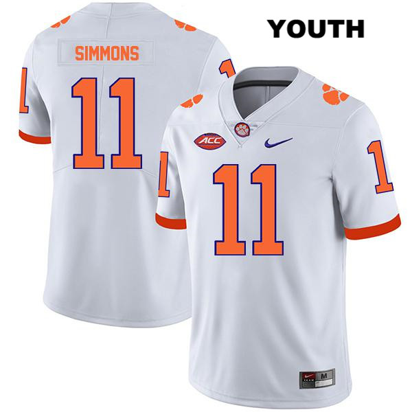 Legend Isaiah Simmons Clemson Tigers no. 11 Nike Youth White Stitched Authentic College Football Jersey - Isaiah Simmons Jersey
