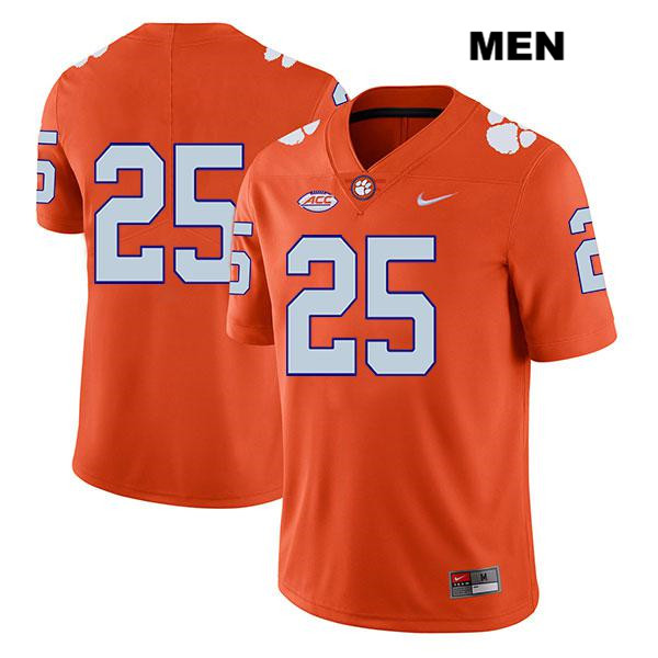 J.C. Chalk Legend Clemson Tigers no. 25 Mens Nike Orange Stitched Authentic College Football Jersey - No Name - J.C. Chalk Jersey