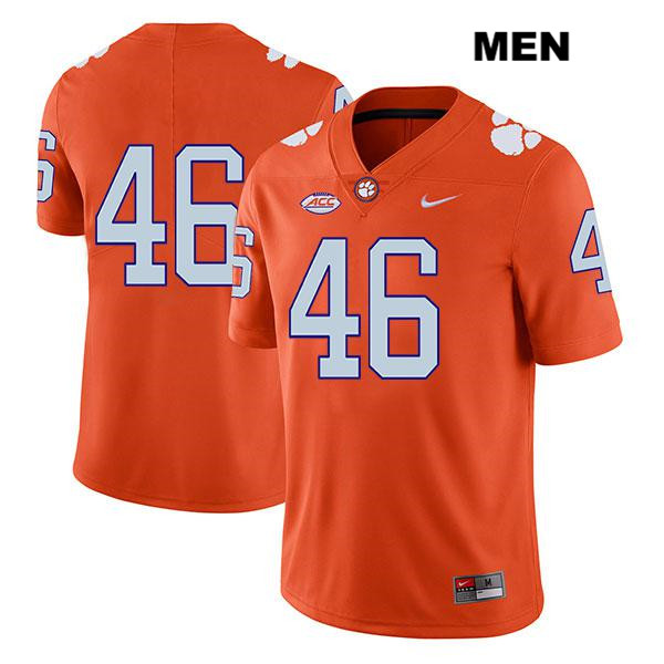 Jack Maddox Clemson Tigers Stitched Legend no. 46 Mens Orange Nike Authentic College Football Jersey - No Name - Jack Maddox Jersey