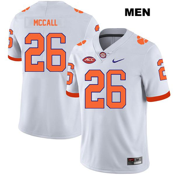 Jack McCall Clemson Tigers Legend no. 26 Mens Stitched Nike White Authentic College Football Jersey - Jack McCall Jersey