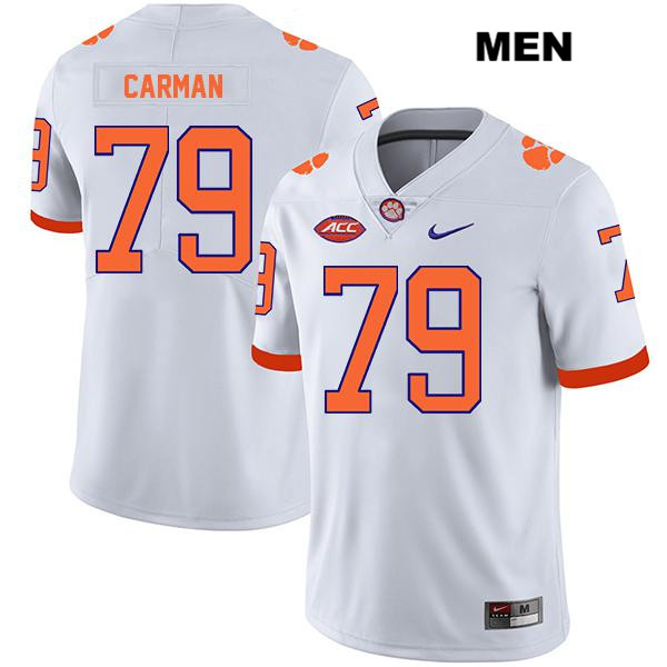 Nike Jackson Carman Clemson Tigers Legend no. 79 Stitched Mens White Authentic College Football Jersey