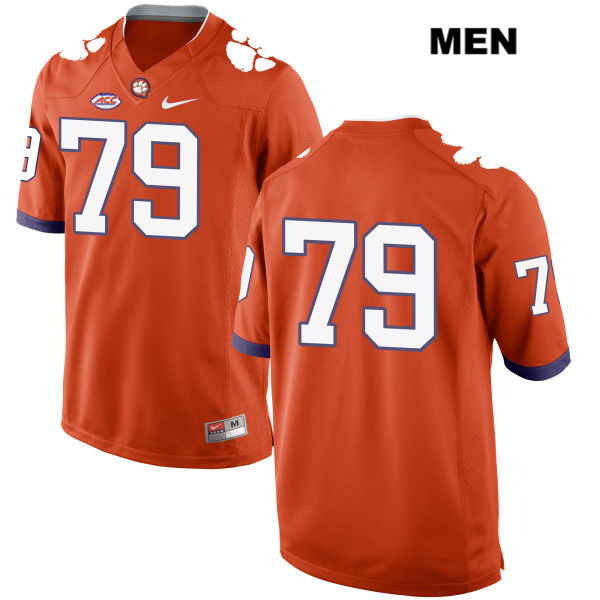 Jackson Carman Stitched Clemson Tigers no. 79 Mens Nike Orange Style 2 Authentic College Football Jersey - No Name - Jackson Carman Jersey