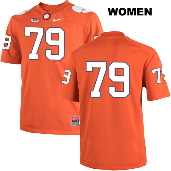 Stitched Jackson Carman Nike Clemson Tigers no. 79 Womens Orange Authentic College Football Jersey - No Name - Jackson Carman Jersey