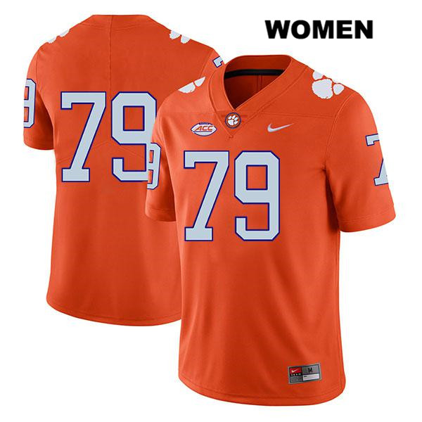 Jackson Carman Stitched Clemson Tigers Nike Legend no. 79 Womens Orange Authentic College Football Jersey - No Name - Jackson Carman Jersey