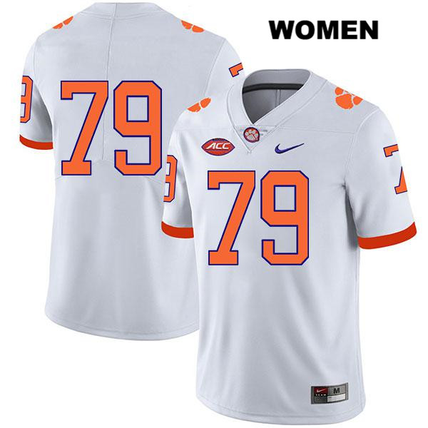 Stitched Jackson Carman Clemson Tigers no. 79 Legend Womens White Nike Authentic College Football Jersey - No Name - Jackson Carman Jersey