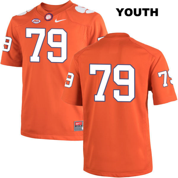 Jackson Carman Clemson Tigers Stitched no. 79 Youth Nike Orange Authentic College Football Jersey - No Name - Jackson Carman Jersey