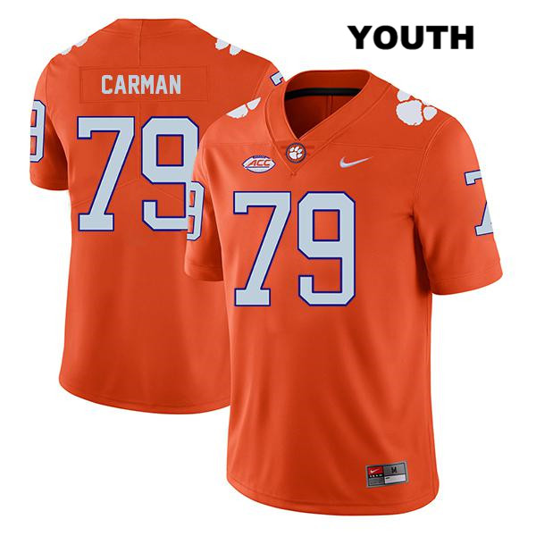 Jackson Carman Legend Stitched Clemson Tigers no. 79 Nike Youth Orange Authentic College Football Jersey - Jackson Carman Jersey