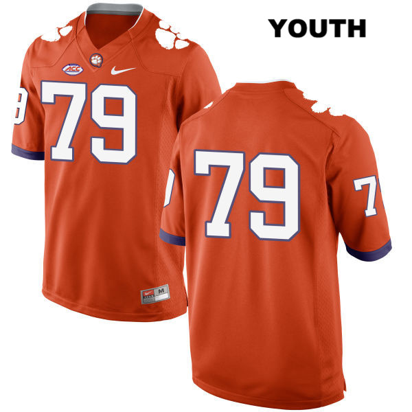 Nike Jackson Carman Stitched Clemson Tigers no. 79 Youth Style 2 Orange Authentic College Football Jersey - No Name - Jackson Carman Jersey