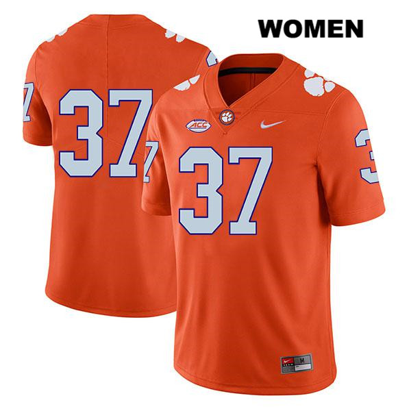 Jake Herbstreit Nike Clemson Tigers no. 37 Legend Womens Orange Stitched Authentic College Football Jersey - No Name