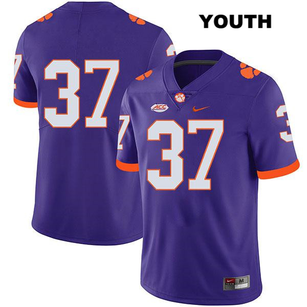 Jake Herbstreit Legend Clemson Tigers no. 37 Youth Stitched Purple Nike Authentic College Football Jersey - No Name - Jake Herbstreit Jersey
