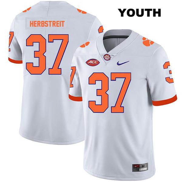Nike Jake Herbstreit Stitched Clemson Tigers no. 37 Legend Youth White Authentic College Football Jersey - Jake Herbstreit Jersey