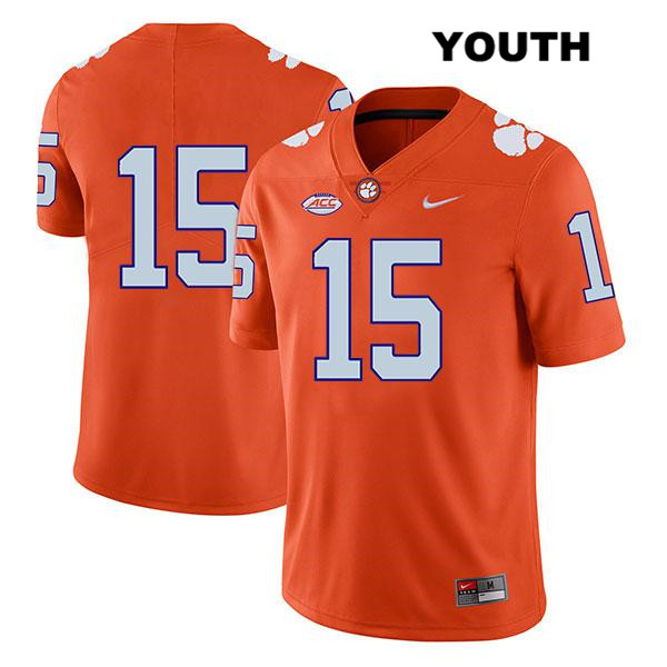 Jake Venables Clemson Tigers no. 15 Youth Legend Stitched Orange Nike Authentic College Football Jersey - No Name - Jake Venables Jersey