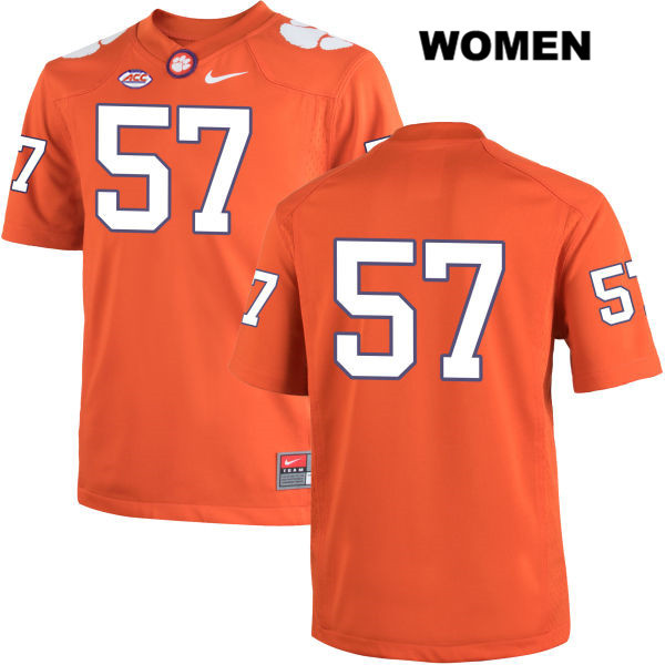 Nike Jay Guillermo Clemson Tigers no. 57 Stitched Womens Orange Authentic College Football Jersey - No Name - Jay Guillermo Jersey