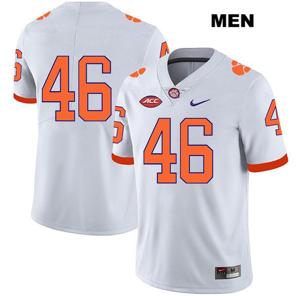 John Boyd Clemson Tigers Nike Stitched no. 46 Mens White Legend Authentic College Football Jersey - No Name - John Boyd Jersey