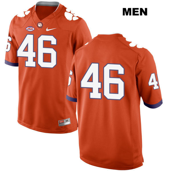 Style 2 John Boyd Nike Clemson Tigers no. 46 Stitched Mens Orange Authentic College Football Jersey - No Name - John Boyd Jersey