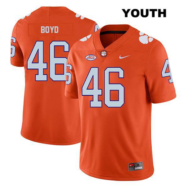 John Boyd Stitched Legend Clemson Tigers no. 46 Youth Orange Nike Authentic College Football Jersey - John Boyd Jersey