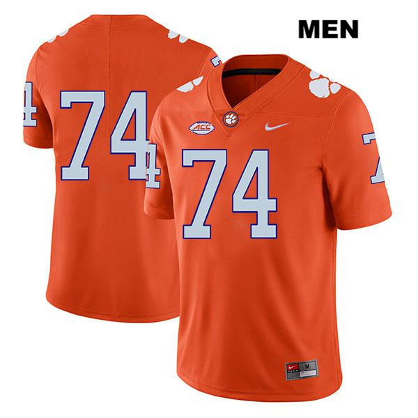 John Simpson Stitched Clemson Tigers no. 74 Nike Mens Orange Legend Authentic College Football Jersey - No Name - John Simpson Jersey
