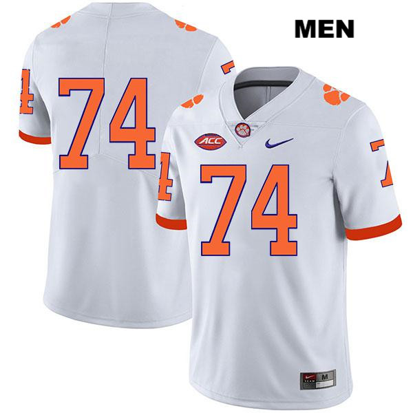 Stitched John Simpson Clemson Tigers Legend no. 74 Mens Nike White Authentic College Football Jersey - No Name - John Simpson Jersey