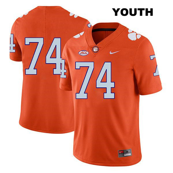 Stitched John Simpson Nike Clemson Tigers no. 74 Youth Orange Legend Authentic College Football Jersey - No Name - John Simpson Jersey