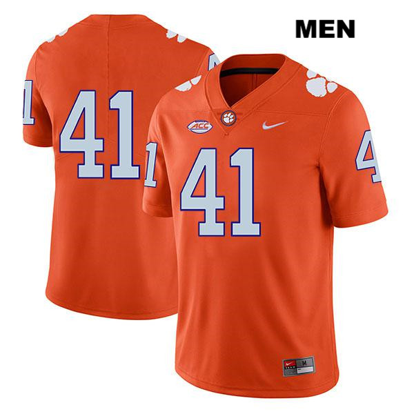 Jonathan Weitz Legend Nike Clemson Tigers no. 41 Mens Stitched Orange Authentic College Football Jersey - No Name - Jonathan Weitz Jersey