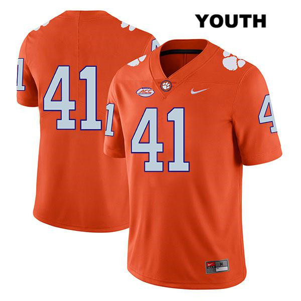 Nike Jonathan Weitz Clemson Tigers no. 41 Legend Youth Stitched Orange Authentic College Football Jersey - No Name - Jonathan Weitz Jersey