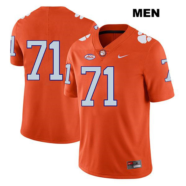 Jordan McFadden Clemson Tigers no. 71 Legend Nike Mens Stitched Orange Authentic College Football Jersey - No Name - Jordan McFadden Jersey