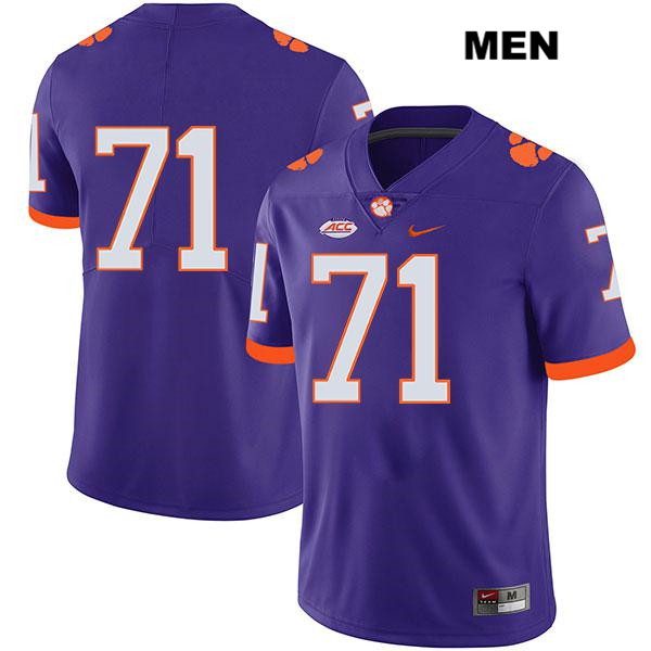Jordan McFadden Nike Clemson Tigers no. 71 Stitched Mens Purple Legend Authentic College Football Jersey - No Name - Jordan McFadden Jersey