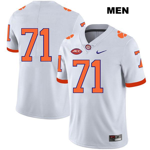 Legend Jordan McFadden Clemson Tigers no. 71 Stitched Mens Nike White Authentic College Football Jersey - No Name - Jordan McFadden Jersey