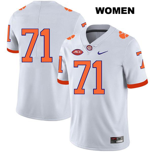 Nike Jordan McFadden Clemson Tigers no. 71 Legend Womens White Stitched Authentic College Football Jersey - No Name - Jordan McFadden Jersey
