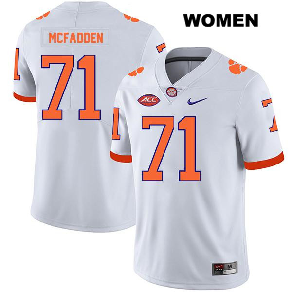 Jordan McFadden Nike Clemson Tigers Stitched no. 71 Womens White Legend Authentic College Football Jersey - Jordan McFadden Jersey