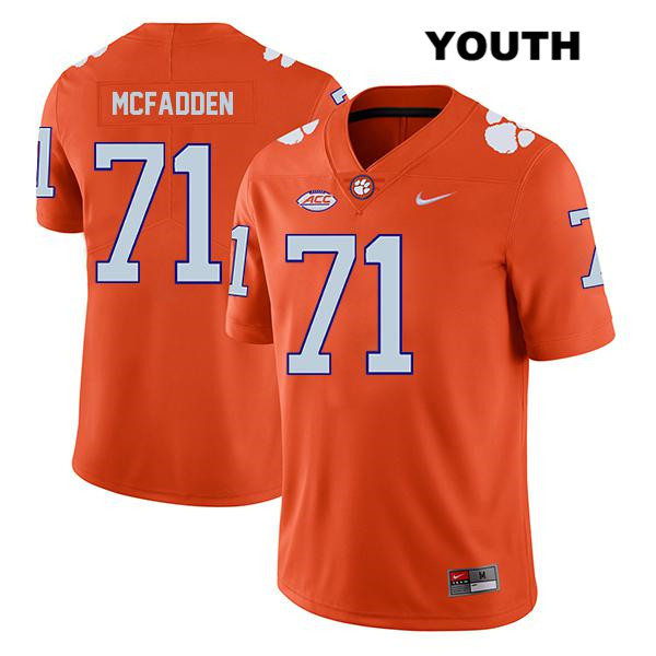 Jordan McFadden Clemson Tigers Nike no. 71 Legend Youth Stitched Orange Authentic College Football Jersey - Jordan McFadden Jersey