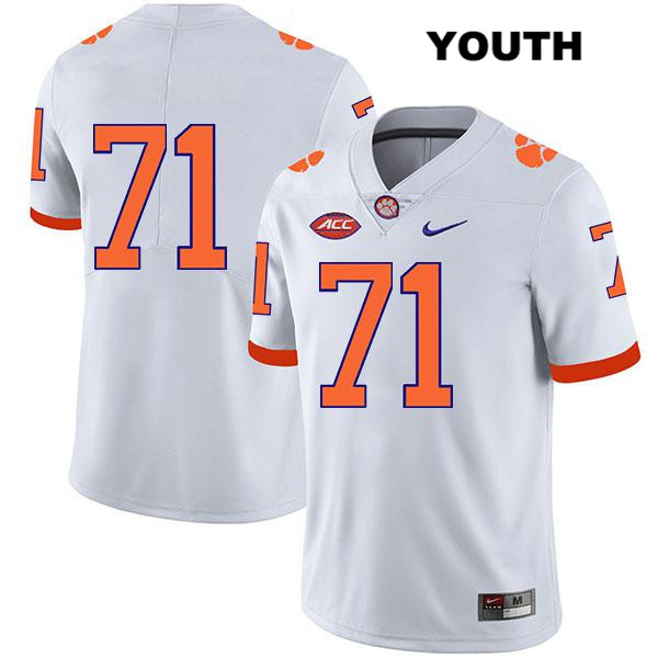 Stitched Jordan McFadden Legend Clemson Tigers Nike no. 71 Youth White Authentic College Football Jersey - No Name - Jordan McFadden Jersey