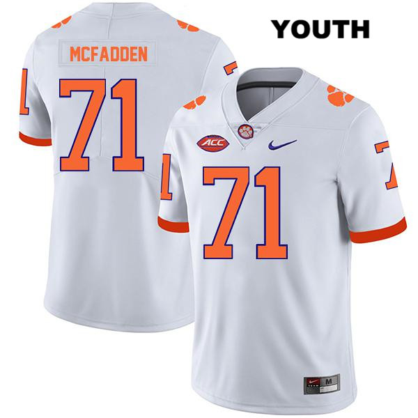 Jordan McFadden Clemson Tigers Stitched no. 71 Youth Legend White Nike Authentic College Football Jersey - Jordan McFadden Jersey