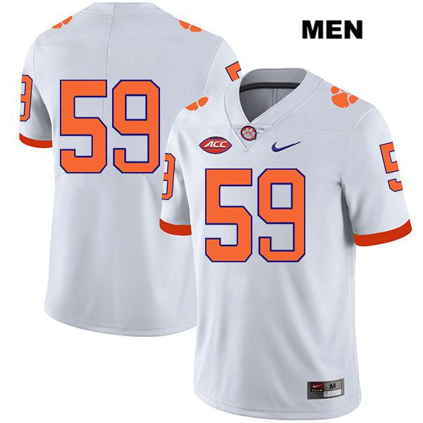 Jordan Williams Nike Clemson Tigers no. 59 Mens Stitched White Legend Authentic College Football Jersey - No Name - Jordan Williams Jersey