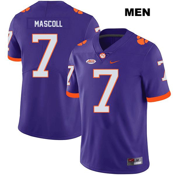 Justin Mascoll Clemson Tigers Legend no. 7 Nike Mens Purple Stitched Authentic College Football Jersey - Justin Mascoll Jersey