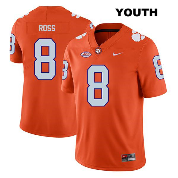 Justyn Ross Legend Clemson Tigers Nike no. 8 Stitched Youth Orange Authentic College Football Jersey - Justyn Ross Jersey