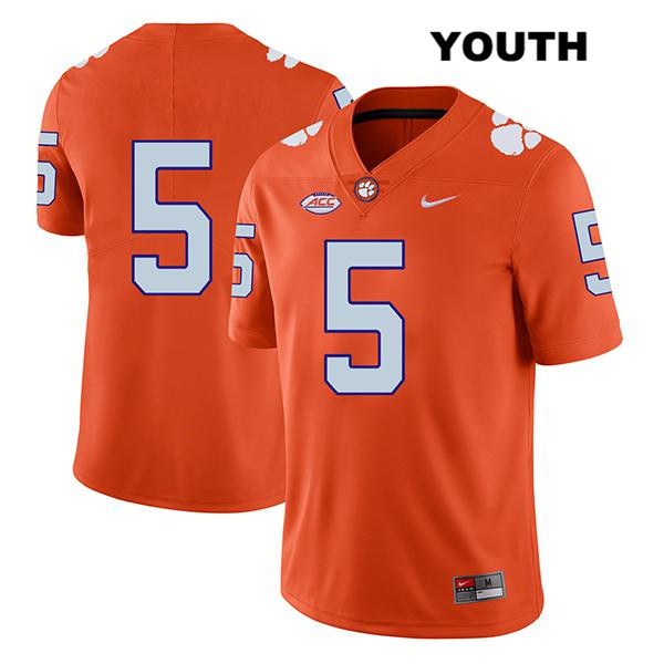 K.J. Henry Clemson Tigers Legend no. 5 Youth Orange Nike Stitched Authentic College Football Jersey - No Name - K.J. Henry Jersey