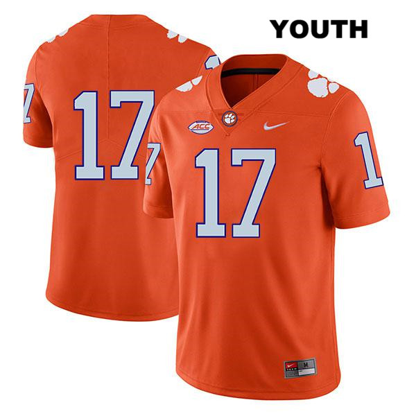 Kane Patterson Clemson Tigers Stitched no. 17 Nike Legend Youth Orange Authentic College Football Jersey - No Name - Kane Patterson Jersey