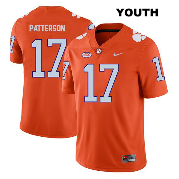 Stitched Kane Patterson Nike Legend Clemson Tigers no. 17 Youth Orange Authentic College Football Jersey - Kane Patterson Jersey
