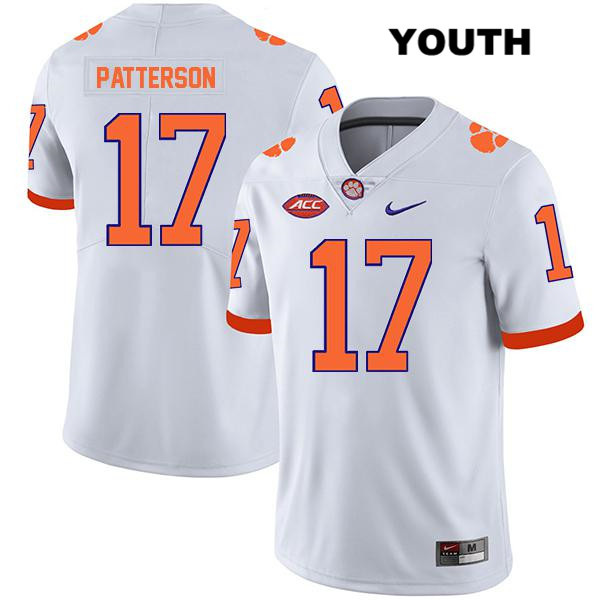 Legend Kane Patterson Clemson Tigers no. 17 Youth Stitched White Nike Authentic College Football Jersey - Kane Patterson Jersey