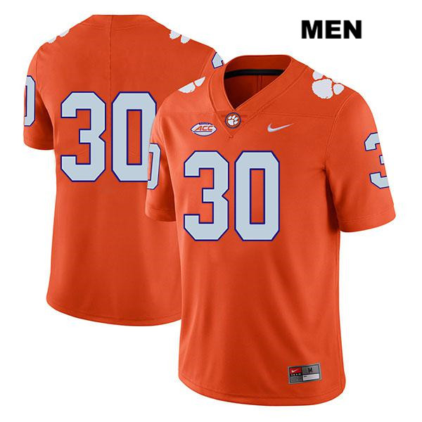 Nike Keith Maguire Clemson Tigers no. 30 Mens Legend Orange Stitched Authentic College Football Jersey - No Name