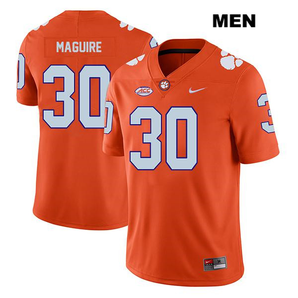 Keith Maguire Clemson Tigers no. 30 Legend Nike Mens Stitched Orange Authentic College Football Jersey - Keith Maguire Jersey