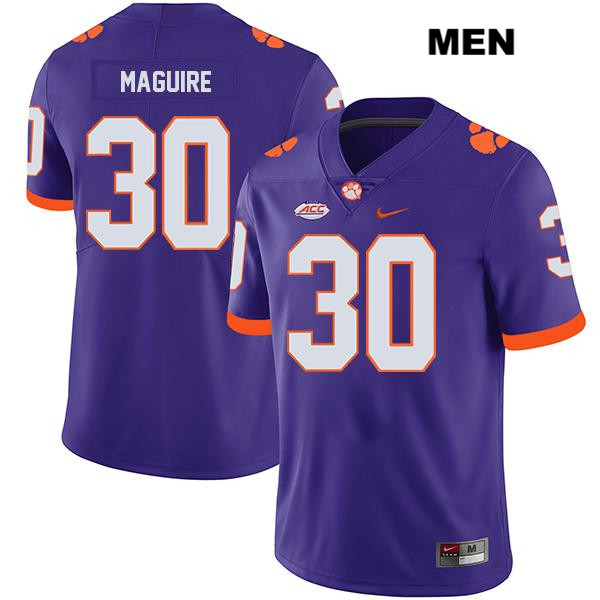 Keith Maguire Legend Clemson Tigers Stitched no. 30 Nike Mens Purple Authentic College Football Jersey - Keith Maguire Jersey