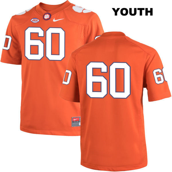Nike Kelby Bevelle Clemson Tigers no. 60 Stitched Youth Orange Authentic College Football Jersey - No Name - Kelby Bevelle Jersey