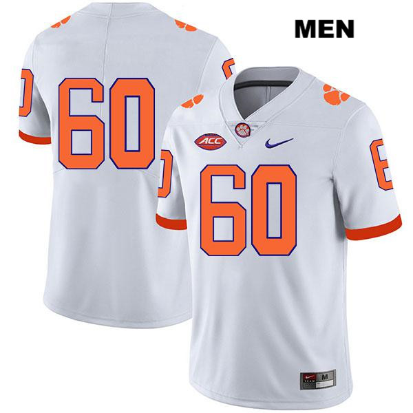 Mac Cranford Clemson Tigers Nike no. 60 Legend Mens White Stitched Authentic College Football Jersey - No Name - Mac Cranford Jersey